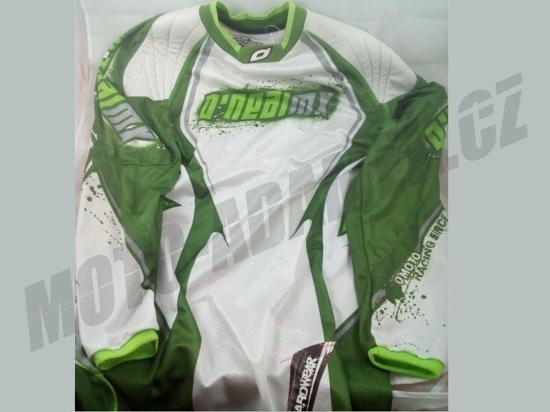 Motokrosový dres ONEAL hardwear zeleno bílá