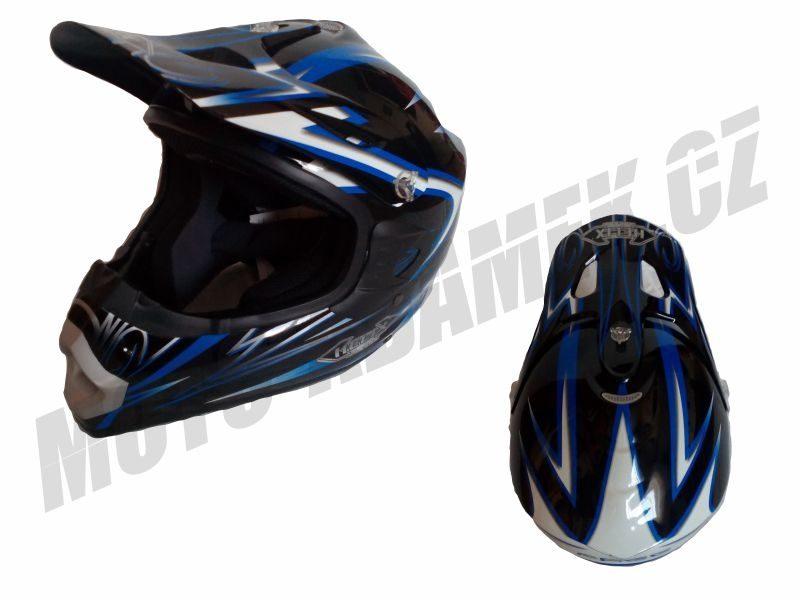 MX helma HELIX free černo modrá S