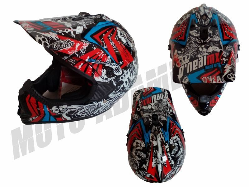 MX helma ONEAL addiction black red S