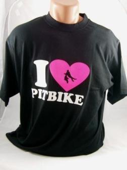 Tričko I LOVE PITBIKE