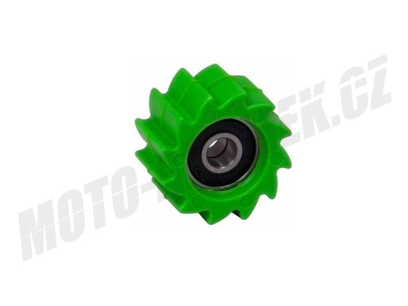 Rolna - kladka řetězu Racetech zelená zubatá