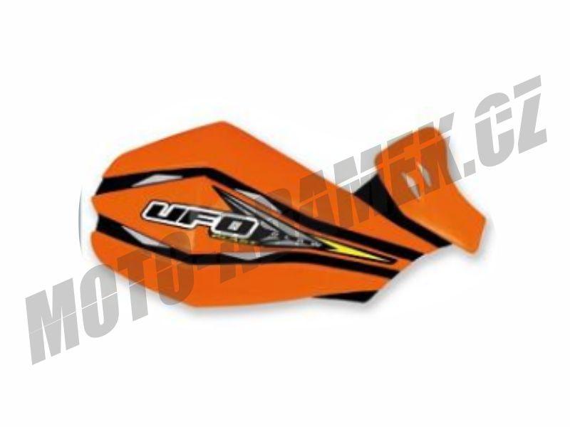 Kryty páček UFO CLAW alu KIT oranžové