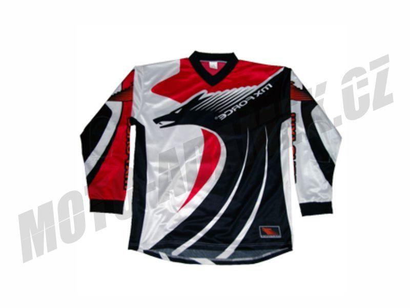 Motokrosový dres MX force New speed červený