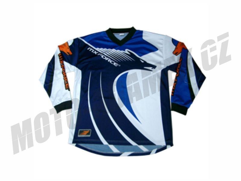 Motokrosový dres MX force New speed modrý