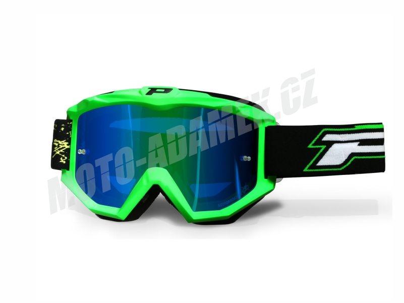 MX brýle PROGRIP 3204 FLUO zelené