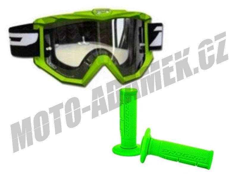Gripy PROGRIP 794 zelené v sadě s brýlemi 3201