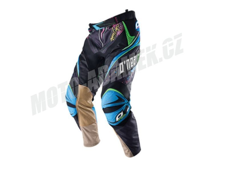 MX kalhoty ONEAL HARDWEAR black neon 38