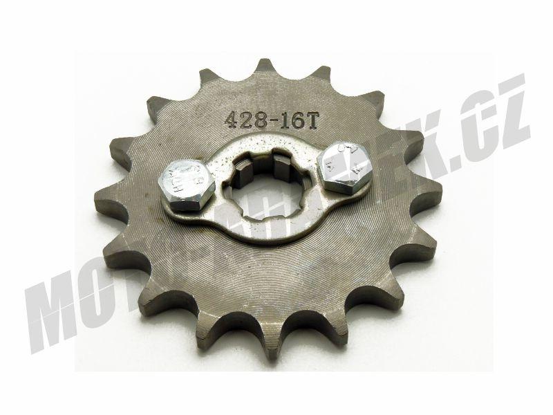 pitbike řetězové kolečko 428/16 na hřídel 17mm