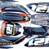 Sada plastů pitbike TTR s polepy ROCKSTAR energy drink