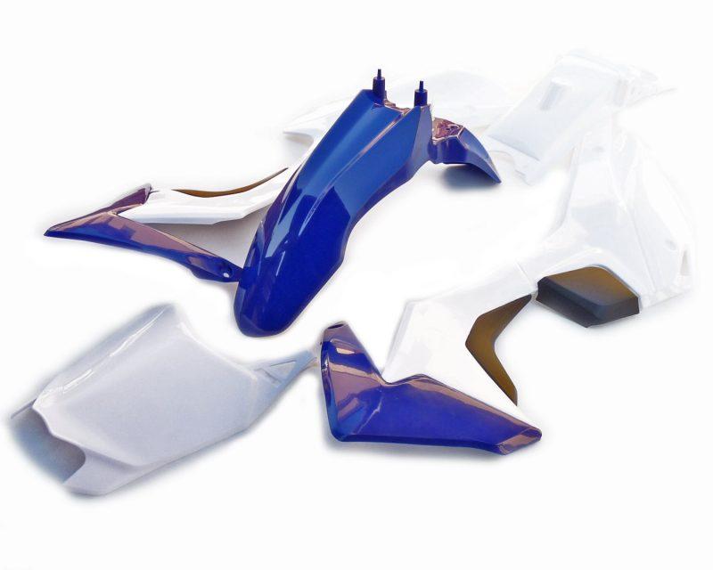 pitbike sada plastů CRF110 WPB RACE modro-bílé moto adamek