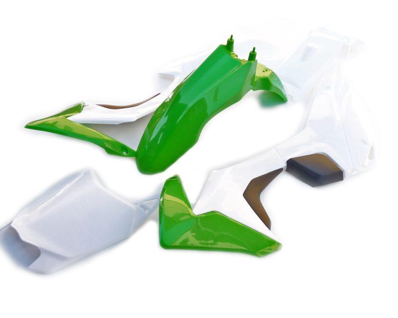 pitbike sada plastů CRF110 WPB RACE zeleno-bílé moto adamek