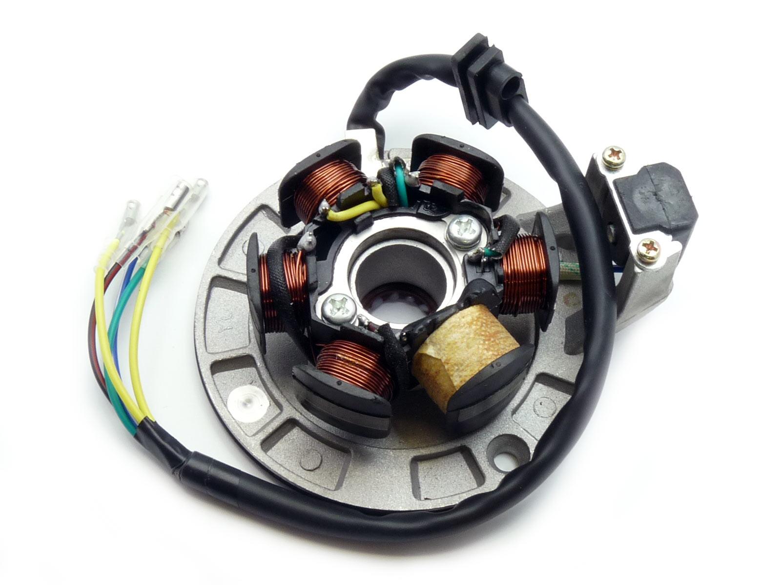 pitbike zapalování, stator pro motory Yx (KLX110) šesticívkové moto adamek
