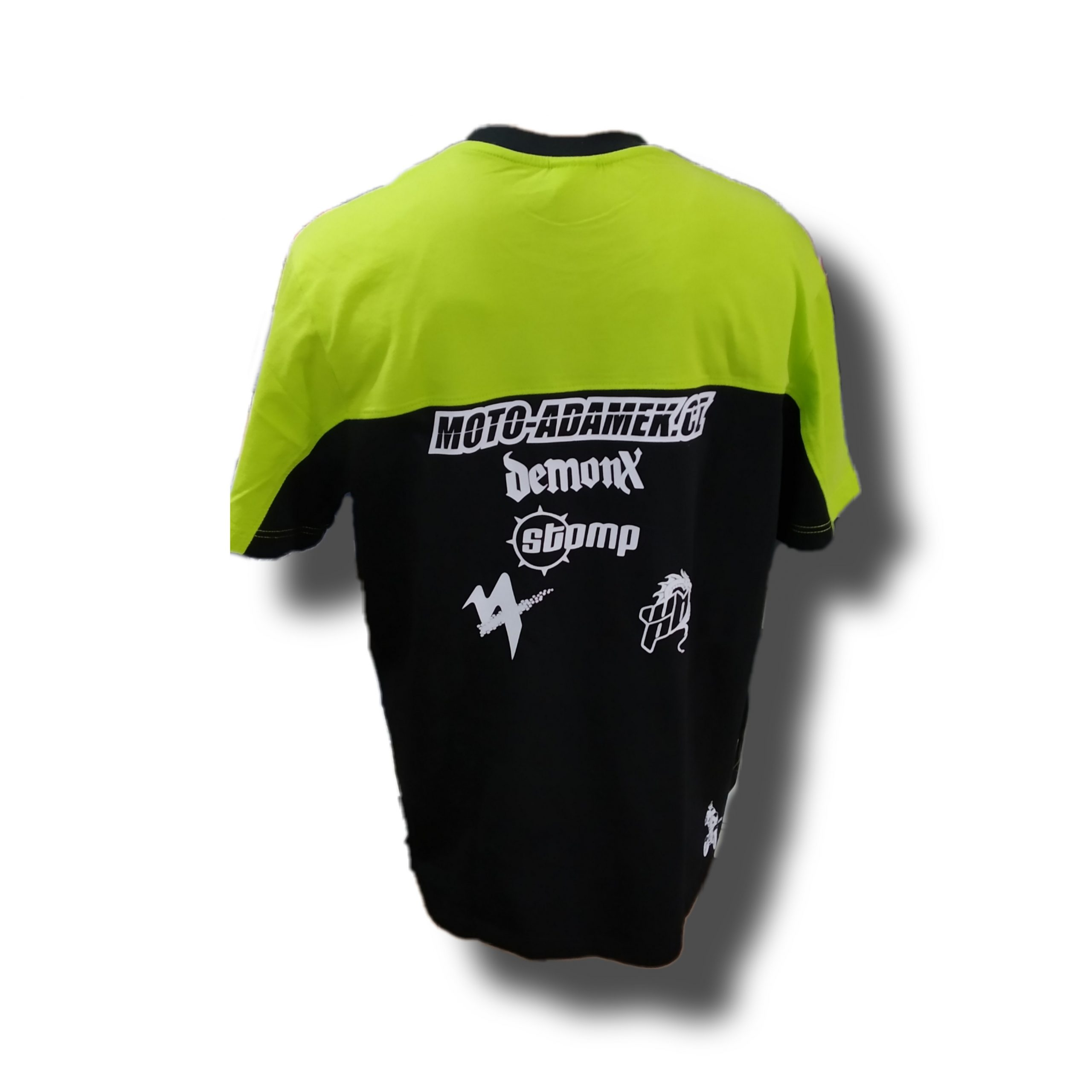 team shirt triko moto adamek cerna zelena