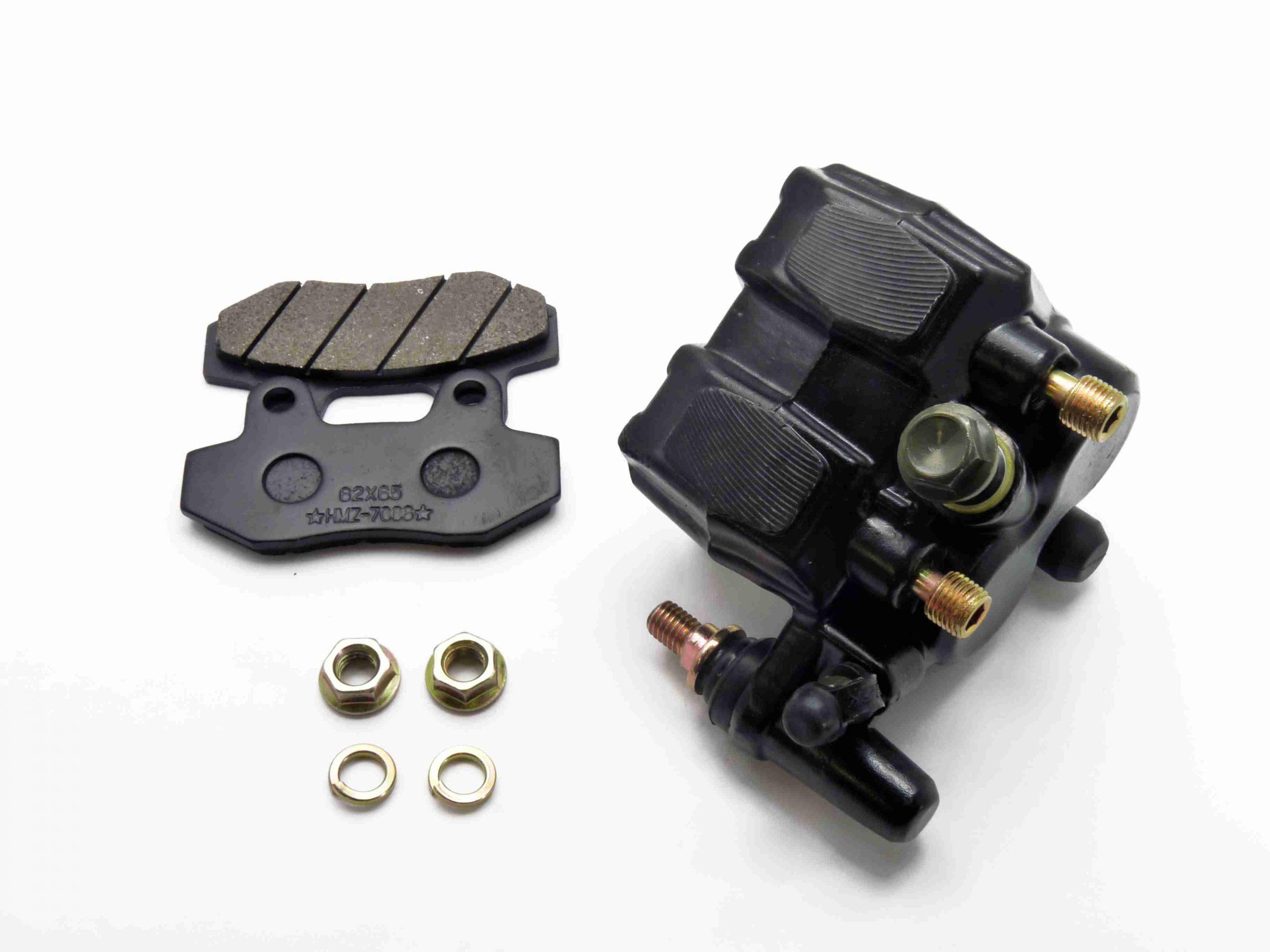 pitbike přední dvoupístkový brzdový třmen Stomp,DemonX, WPB, černý moto adamek