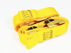Upínací popruhy na přepravu motocyklu 38mm žluté